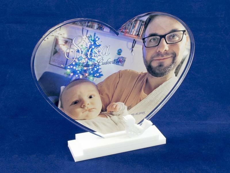 Plaketa s poljubno fotografijo
