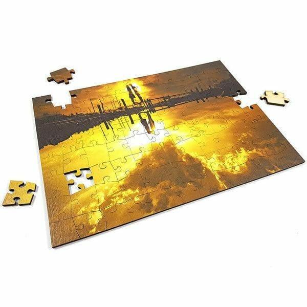 Lesene puzzle iz lastne slike