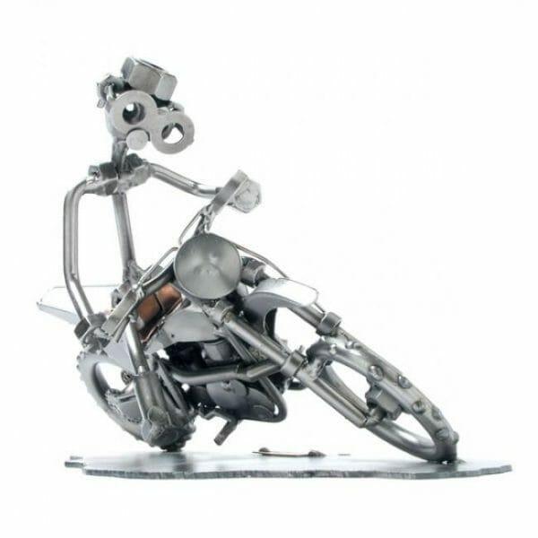Motokros dirkač kovinska skulptura