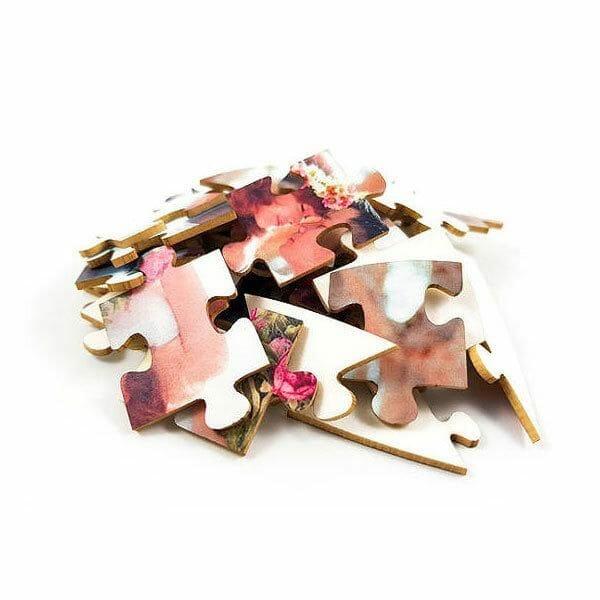 Puzzle srček delci