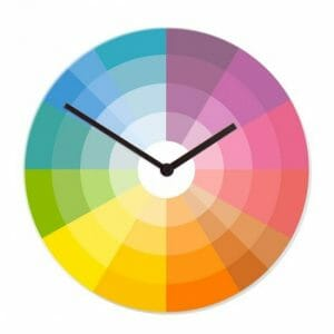 Stenska ura barvni krog