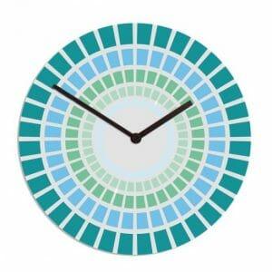Cerknica stenska ura, modra barva