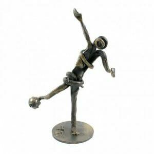 Nogometaš, ročno izdelana skulptura