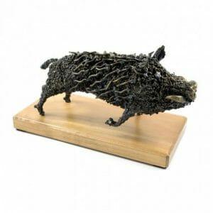 Divji prašiči, divja svinja skulptura