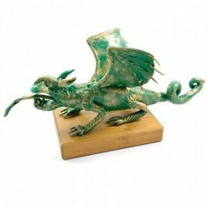 Skulptura Celovški zmaj, vrbsko jezero, Celovec
