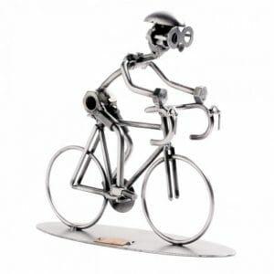 Skulptura specialka, dirkalno kolo, cestno kolo, kolesar
