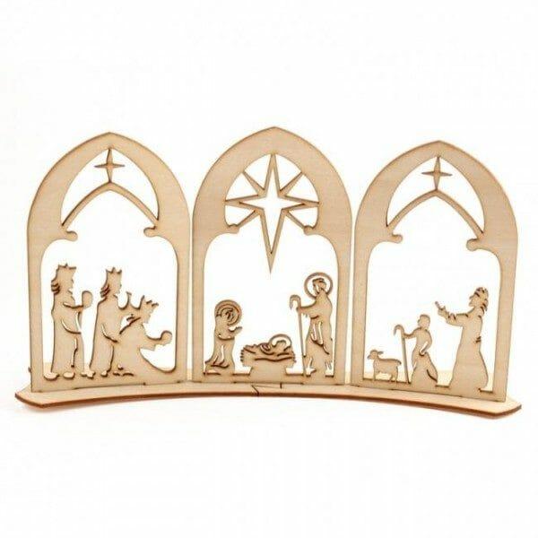 jaslice za božič, leseni božični okraski