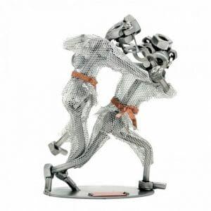 Judo kovinska skulptura