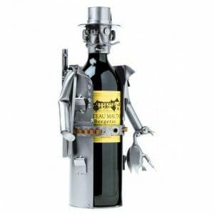 Lovski nosilec za vinsko steklenico skulptura