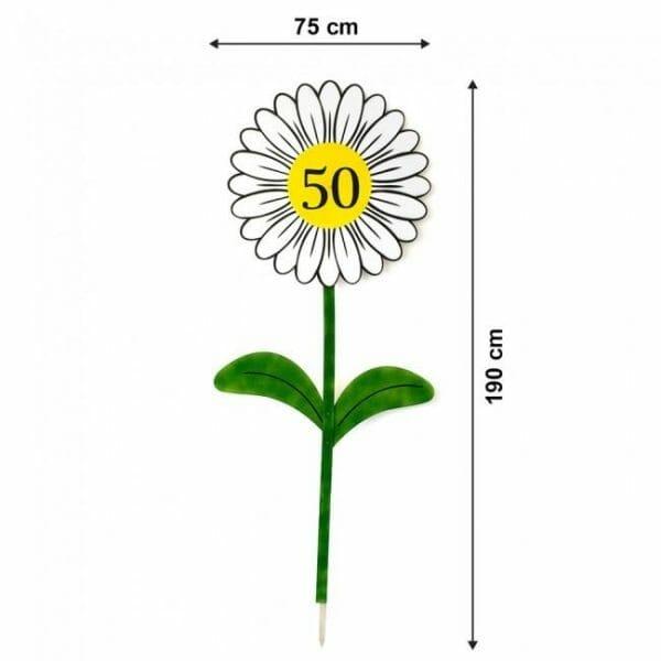 Velikost rože za okroglo obletnico