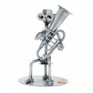 Igralec tube kovinska skulptura
