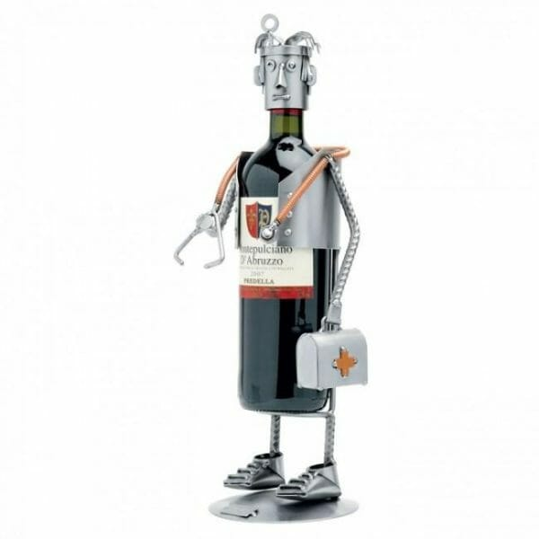 Zdravnik kovinska skulptura za steklenico