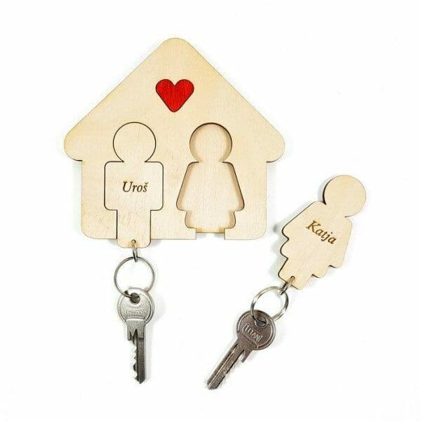 Obeski za ključe z držalom, moški in ženska