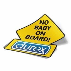Durex nalepka za avto