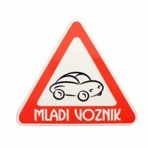 Varna vožnja nalepka za avto