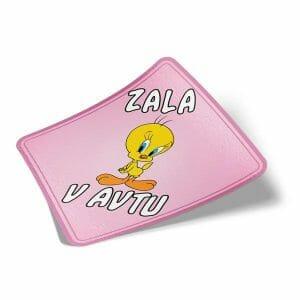 Nalepka za avto Tweety roza