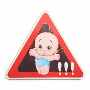 Avto nalepka dojenček v avtu