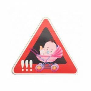 Pazi dojenček v avtu nalepka za avto