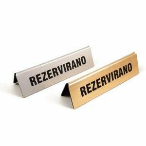 rezervirano namizna tablica za na mizo, pult ali prodajno okence