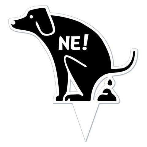 Opozorilna tabla prepoved kakanja za pse