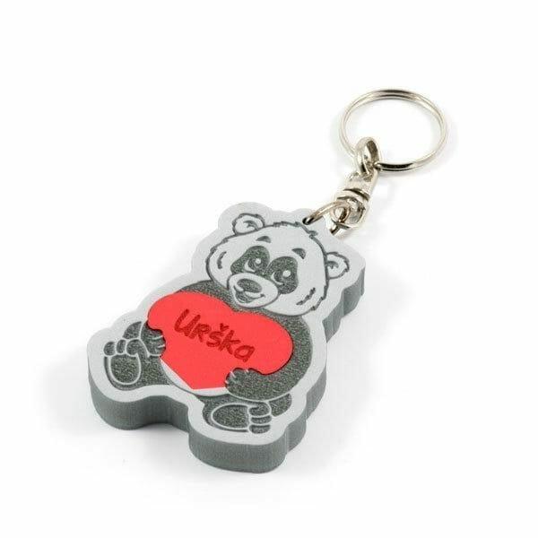 Panda obesek za ključe iz pene