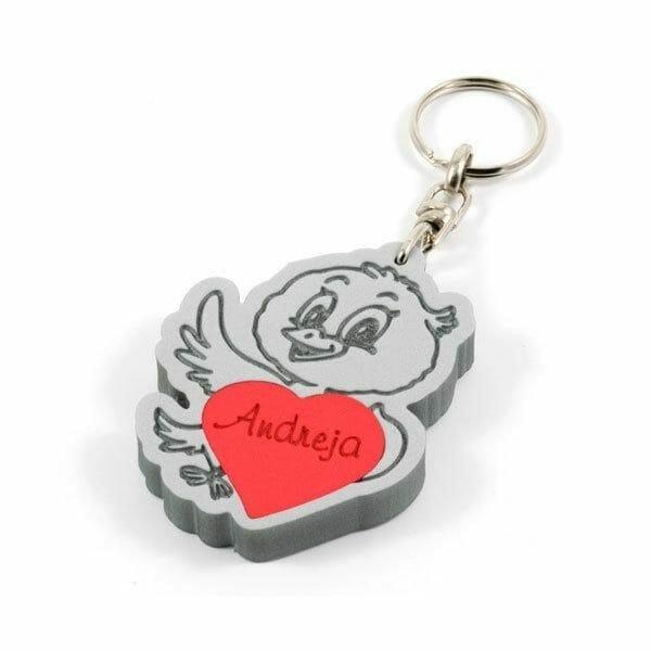 Ptiček obesek za ključe za darilo