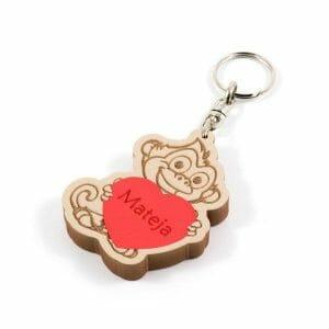 opica obesek za ključe iz EVA pene