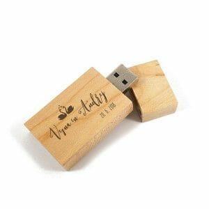 USB ključ iz lesa, ključek z gravuro