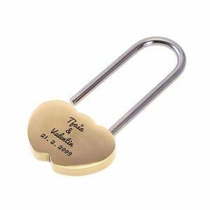 Ključavnice ljubezni z gravuro, valentinovo darila