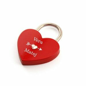 Rdeča Ključavnice ljubezni, darila za valentinovo zanj