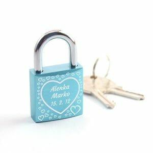 Ključavnice ljubezni, darila za pare, darila za valentinovo