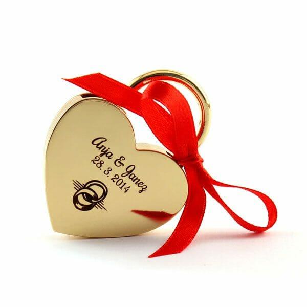 Ključavnica ljubezni z gravuro, darilo za valentinovo, darilo za fanta
