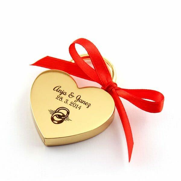 Ključavnica ljubezni z gravuro, darila za valentinovo, darila za pare