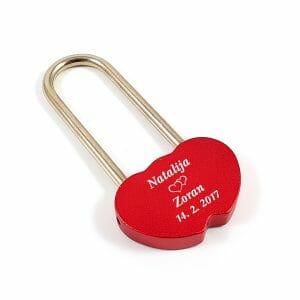 Ključavnica v obliki srca, darilo za valentinovo