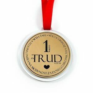 Darilo za moške, medalja prvo mesto za trud