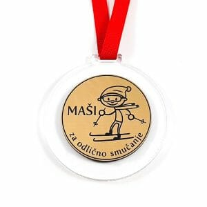 smučanje za prvo mesto zlata medalja
