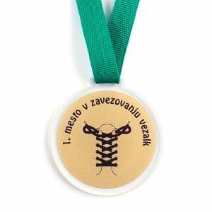 Medalja zavezovanje vezalk