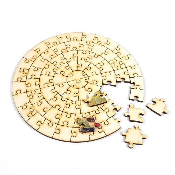 Lesene puzzle krog