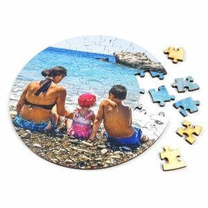 Leseni puzzle krog
