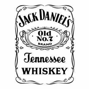 Jack Daniel's nalepka, oksrasne nalepke za avto