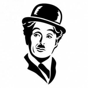 Charlie Chaplin nalepka