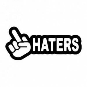 Haters nalepka