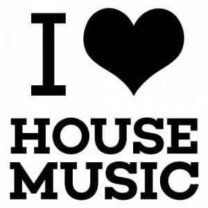 I love house music nalepka