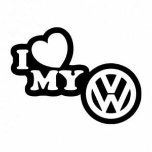 Nalepka za avto I love my Volkswagen
