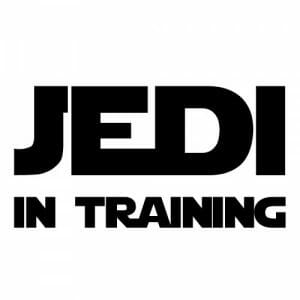 Jedi in training nalepka, star wars nalepke
