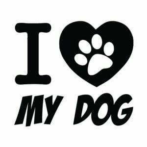 I love my dog nalepka za avto, okrasne nalepke za avto