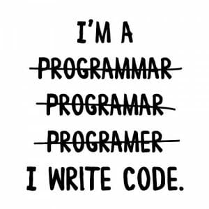 I write code nalepka
