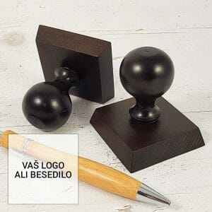 Kvadratna lesena ročka, lesene štampiljke