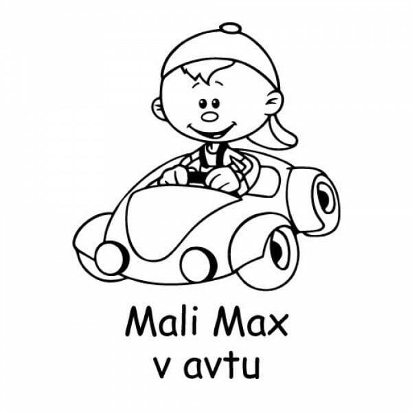 Nalepka otrok v avtu, nalepke otrok v avtu