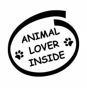 Nalepka za na avto animal lover inside